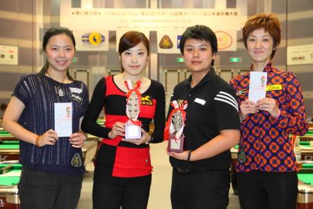 2012 全日本選手権女子上位4名 All Japan Championship Ladies Top4