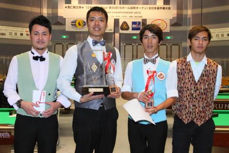 2012 全日本選手権男子入賞4名 All Japan Championship Men Top4