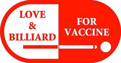 ビリヤードでワクチンをワッペンデザイン