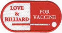 ビリヤードでワクチンをワッペン