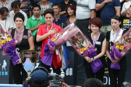 2013女子テンボール世界選手権表彰式写真