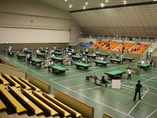 2011年全国アマチュアビリヤード都道府県選手権大会会場風景(岐阜)