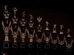 出場者の4人に1人が受け取ることになるトロフィー(画像はイメージです) (C)宮坂徽章