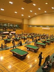 全日本アマチュアポケットビリヤード選手権大会会場風景